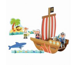 3D puzzle Petitcollage Pirátska loď