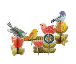 3D puzzle Petitcollage Vtáčiky