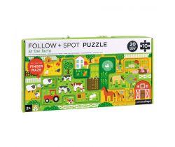 Bludisko a puzzle Petitcollage Farma