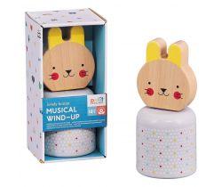 Drevená hracia postavička Petitcollage Zajačik