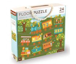 Podlahové puzzle Petitcollage Počítanie s vláčikom
