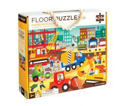 Podlahové puzzle Petitcollage Stavba v meste