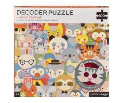 Puzzle 100 ks s 3D okuliarmi Petitcollage Zvieratká