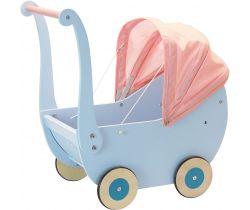 Drevený kočík pre bábiky Petitcollin