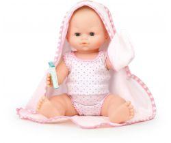 Kúpacia bábika s uterákom Petitcollin 36 cm