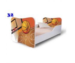Pinokio Deluxe Butterfly Basketbal 32 Detská posteľ