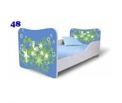 Pinokio Deluxe Butterfly Kvetinky 48 detská posteľ