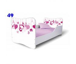 Pinokio Deluxe  Butterfly Srdce 49 Detská posteľ