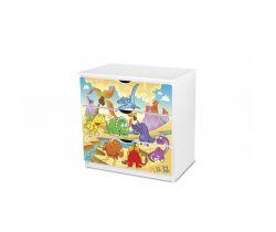 Pinokio Deluxe Dinosaury 51 zásuvková komoda