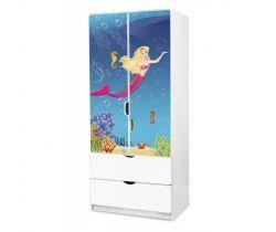Pinokio Deluxe Morská panna 45 šatníková skriňa