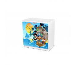 Pinokio Deluxe Piráti 18 zásuvková komoda