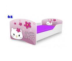 Pinokio Deluxe Rainbow Kitty 62 detská posteľ