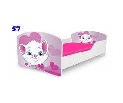 Pinokio Deluxe Rainbow Mačička 57 detská posteľ