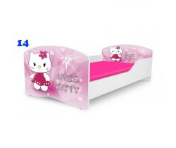 Pinokio Deluxe Rainbow Miss Kitty 14  detská posteľ