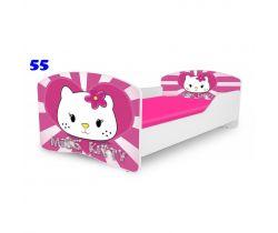 Pinokio Deluxe Rainbow Miss Kitty 55 detská posteľ