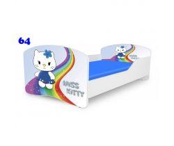 Pinokio Deluxe Rainbow Miss Kitty 64 detská posteľ