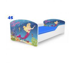 Pinokio Deluxe Rainbow Morská panna 45 detská posteľ