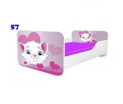 Pinokio Deluxe Square Mačička 57 detská posteľ