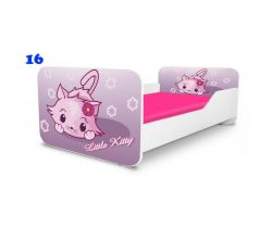 Pinokio Deluxe Square Little kitty 16 detská posteľ