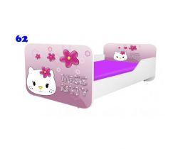 Pinokio Deluxe Square Miss Kitty 62 detská posteľ