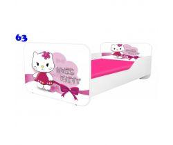 Pinokio Deluxe Square Miss Kitty 63 detská posteľ
