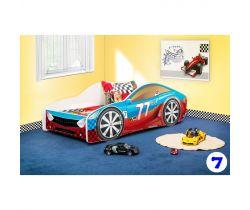 Pinokio Deluxe Závodné auto 7 detská posteľ NEW