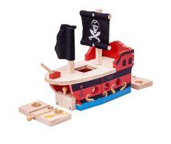 Pirátska galéra Bigjigs Rail