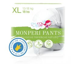 Plienkové nohavičky Monperi Pants XL (13-18 kg) 18 ks