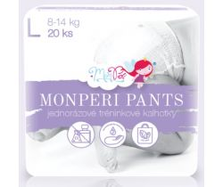 Plienkové nohavičky Monperi Pants L (8-13 kg) 20 ks