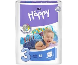 Plienky Bella Baby Happy Midi 5-9 kg 52 ks