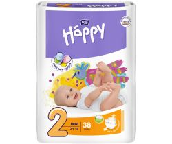 Plienky Bella Baby Happy Mini 3-6 kg 38 ks