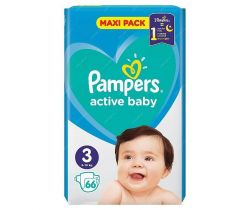 Plienky Pampers Active Baby Maxi Pack 3 (6-10 kg) 66 ks