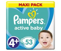 Plienky Pampers Active Baby Maxi Pack 4+ (10-15 kg) 53 ks