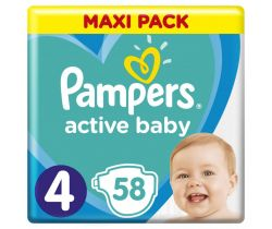 Plienky Pampers Active Baby Maxi Pack 4 (9-14 kg) 58 ks