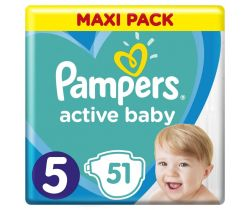 Plienky Pampers Active Baby Maxi Pack 5 (11-16 kg) 51 ks