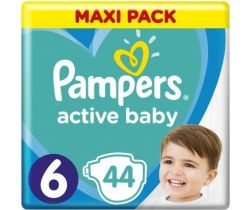 Plienky Pampers Active Baby Maxi Pack 6 (13-18 kg) 44 ks