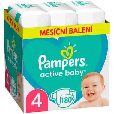 Plienky Pampers Active Baby vel. 4 (9-14 kg) 180 ks - mesačné balenie