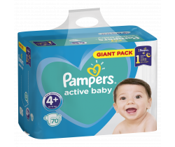 Plienky Pampers Giantpack Maxi Plus 4+ (10-15 kg) 70 ks