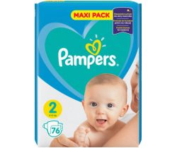 Plienky Pampers New Baby Active Baby Maxi Pack 2 (4-8 kg) 76 ks