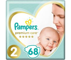 Plienky Pampers Premium Care Mini 2 (4-8 kg) 68 ks