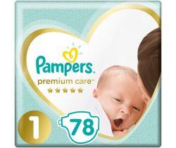 Plienky Pampers Premium Newborn 1 (2-5 kg) 78 ks
