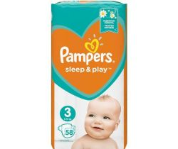 Plienky Pampers Sleep&Play Midi 3 (6-10 kg) 58 ks
