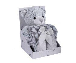 Plyšová hračka + Deka 75x100 cm DuetBaby Bear Grey