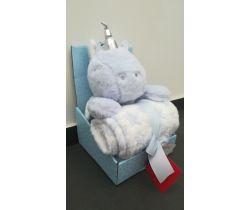 Plyšová deka + 100x75 cm deka Bobas Blue Unicorn