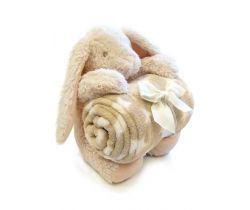 Plyšová deka + hračka Bobas Zajačik
