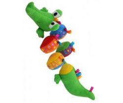 Plyšová edukačná hračka BabyMix Krokodýl