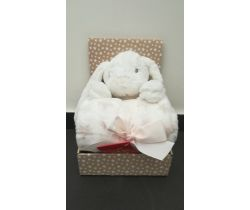Plyšová hračka + 75x100 cm deka Bobas White Rabbit