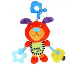 Plyšová hračka s hracím strojkom BabyMix Červený Psík