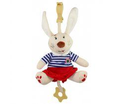Plyšová hračka s klipom a vibráciou BabyMix Králiček Námorník v šatôčkach