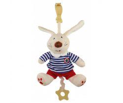 Plyšová hračka s klipom a vibráciou BabyMix Králiček Námoník v tepláčkach